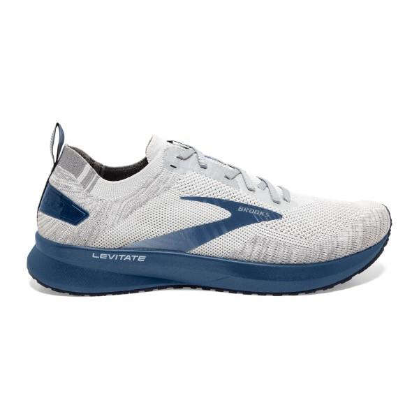 Brooks Levitate 4 - Mens Running Shoes - Grey/Oyster/Blue