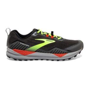 Brooks Cascadia 15 - Mens Trail Running Shoes - Black/Raven/Cherry Tomato