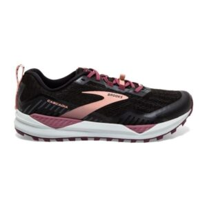 Brooks Cascadia 15 - Womens Trail Running Shoes - Black/Ebony/Coral Cloud