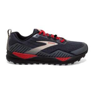 Brooks Cascadia 15 GTX - Mens Trail Running Shoes - Black/Ebony/Red