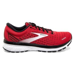 Brooks Ghost 13 - Mens Running Shoes - High Risk Red/Black/White