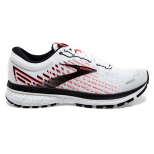 Brooks Ghost 13 - Womens Running Shoes - White/Pink/Black
