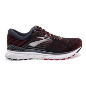 Brooks Transcend 6 - Mens Running Shoes - Black/Ebony/Red