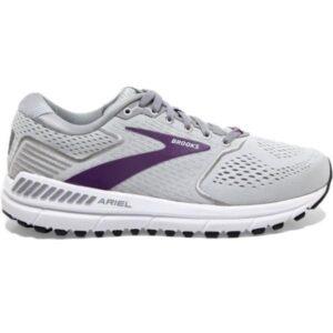 Brooks Ariel 20 - Womens Running Shoes - Oyster/Alloy/Grape