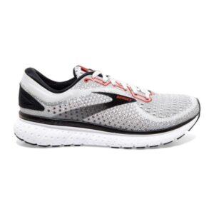 Brooks Glycerin 18 - Mens Running Shoes - Grey/Black/Red