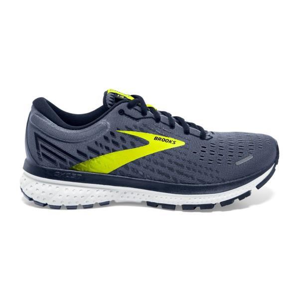 Brooks Ghost 13 - Mens Running Shoes - Grey/Navy/Nightlife