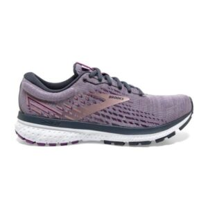 Brooks Ghost 13 Knit - Womens Running Shoes - Lavender/Ombre/Metallic