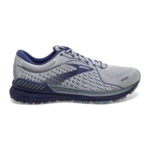 Brooks Adrenaline GTS 21 - Mens Running Shoes - Grey/Tradewinds/Deep Cobalt