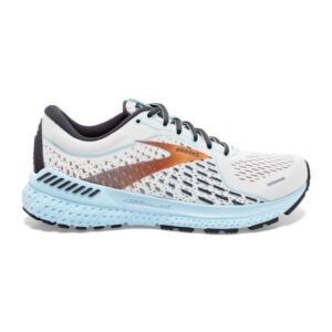 Brooks Adrenaline GTS 21 - Womens Running Shoes - White/Alloy/Light Blue