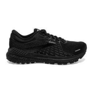 Brooks Adrenaline GTS 21 - Womens Running Shoes - Triple Black/Ebony
