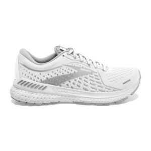 Brooks Adrenaline GTS 21 - Womens Running Shoes - White/Grey/Silver