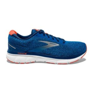 Brooks Trace - Mens Running Shoes - Blue/Navy/Orange