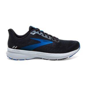 Brooks Launch 8 - Mens Running Shoes - Black/Grey/Blue