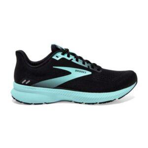 Brooks Launch 8 - Womens Running Shoes - Black/Ebony/Blue Tint