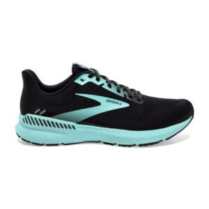 Brooks Launch GTS 8 - Womens Running Shoes - Black/Ebony/Blue Tint