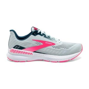 Brooks Launch GTS 8 - Womens Running Shoes - Ice Flow/Navy/Pink