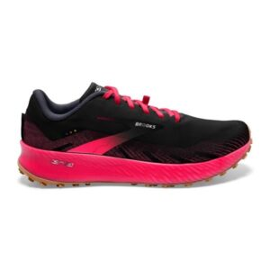 Brooks Catamount - Womens Trail Racing Shoes - Black/Pink