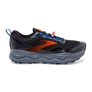 Brooks Caldera 5 - Mens Trail Running Shoes - Black/Orange/Blue
