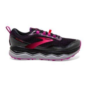 Brooks Caldera 5 - Womens Trail Running Shoes - Black/Fuchsia/Purple