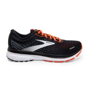 Brooks Ghost 13 - Mens Running Shoes - Black/Ebony/Cherry Tomato