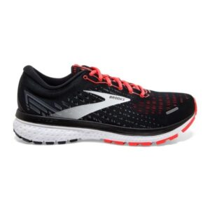 Brooks Ghost 13 - Womens Running Shoes - Black/Ebony/Coral