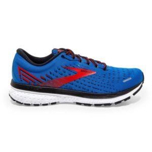 Brooks Ghost 13 - Mens Running Shoes - Blue/Red/White