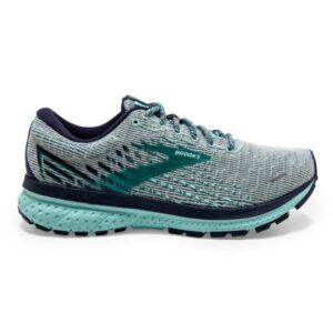 Brooks Ghost 13 - Womens Running Shoes - Pixel Grey/Navy/Parasa