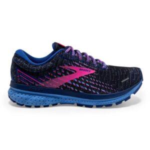 Brooks Ghost 13 - Womens Running Shoes - Pixel Ebony/Blue/Pink