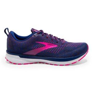 Brooks Revel 4 - Womens Running Shoes - Pixel Blue/Ebony/Pink