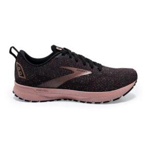 Brooks Revel 4 - Womens Running Shoes - Black/Ebony/Rosegold