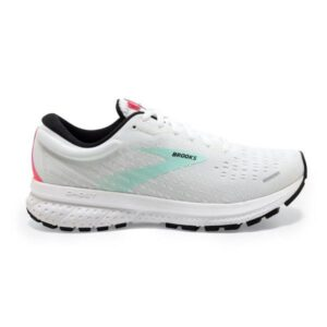 Brooks Ghost 13 - Womens Running Shoes - White/Yucca/Lilac