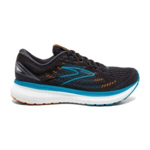 Brooks Glycerin 19 - Mens Running Shoes - Black/Orange/Blue