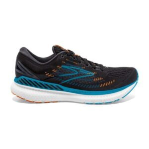 Brooks Glycerin GTS 19 - Mens Running Shoes - Black/Blue/Orange