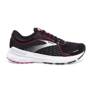 Brooks Adrenaline GTS 21 - Womens Running Shoes - Black/Raspberry Sorbet/Ebony