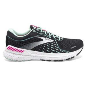 Brooks Adrenaline GTS 21 - Womens Running Shoes - Black/Pink/Yucca