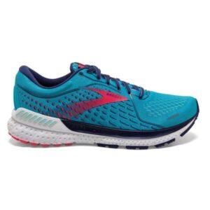 Brooks Adrenaline GTS 21 - Womens Running Shoes - Horizon/Blue Ribbon/Pink