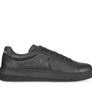 Calvin Klein Mens Leather Chunky Sole Sneaker Black