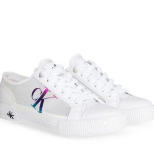Calvin Klein Womens Transparent Ripstop Sneakers Bright White