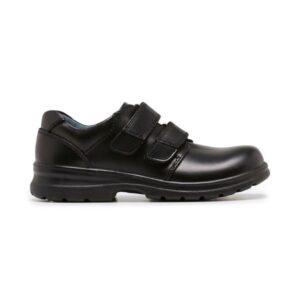 Clarks Lochie - Kids School Shoes - Black
