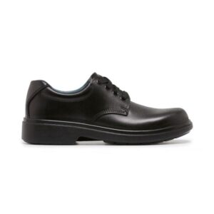 Clarks Daytona Senior School Shoes - Black