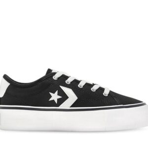 Converse Womens Star Replay Platform Low Black
