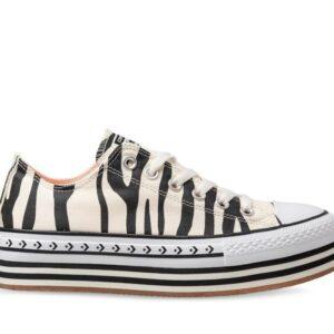Converse Womens CT All Star Lift Lo Sunblocked Zebra