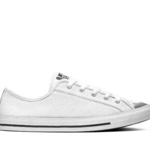 Converse Womens Dainty Mono Metallic White
