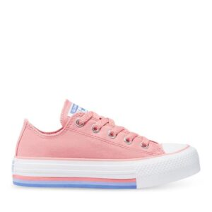 Converse Kids Chuck Taylor All Star Lift Low Pink Coral