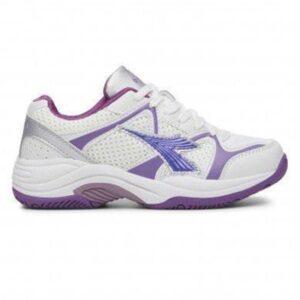 Diadora Miss Match - Womens Netball Shoes - White/Purple