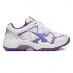 Diadora Miss Match - Kids Netball Shoes - White/Purple