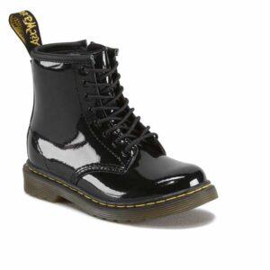 Dr Martens 1460 Toddler Boots Black Patent Lamper