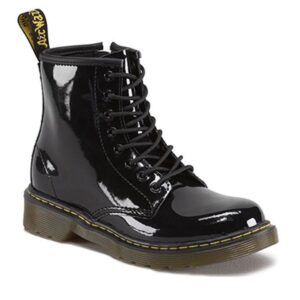 Dr Martens 1460 Juniors Boot Black Patent Lamper