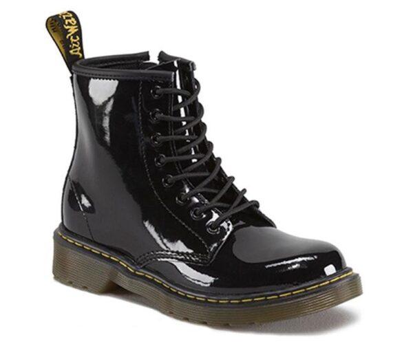 Dr Martens 1460 Juniors Boot Black Patent Lamper