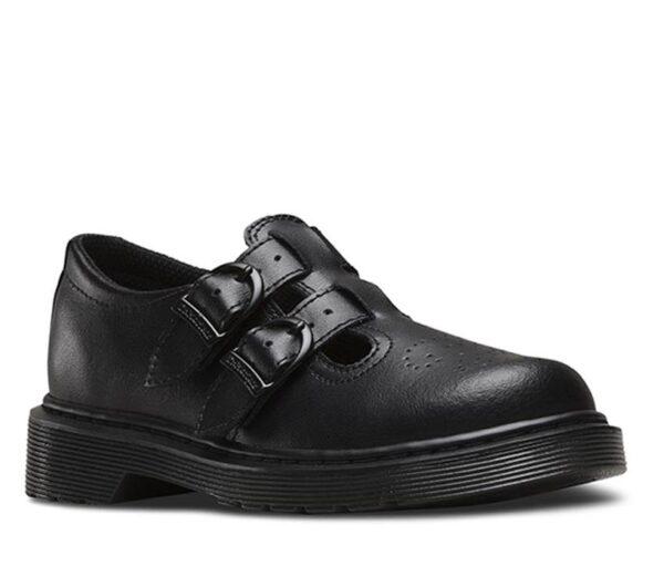 Dr Martens Junior 8065 Leather Black T Lamper